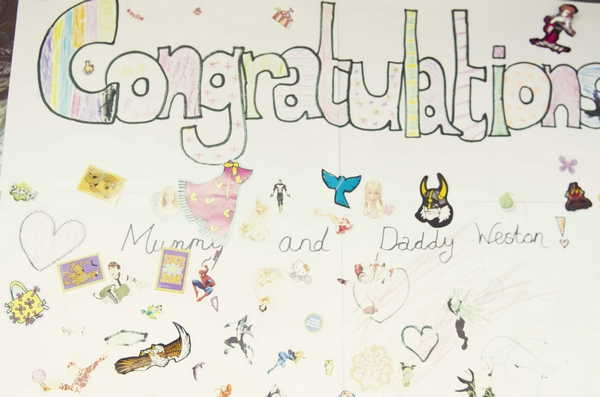 Congratulations message from child
