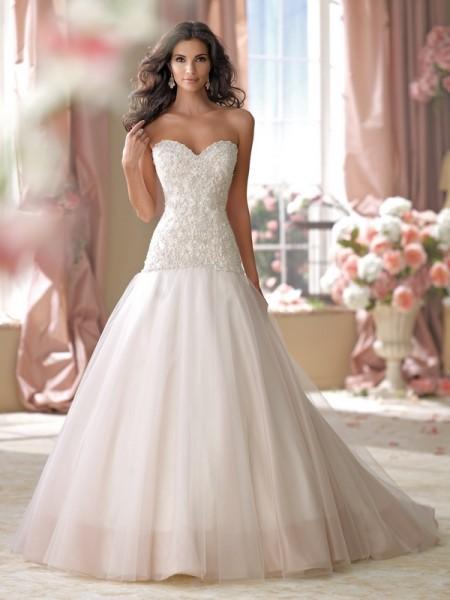 114270 Cora Wedding Dress - David Tutera for Mon Cheri Spring 2014 Bridal Collection