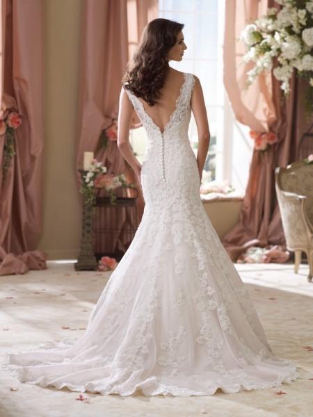 Back of 114271 Sybil Wedding Dress - David Tutera for Mon Cheri Spring 2014 Bridal Collection