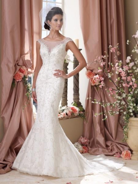 114272 Branson Wedding Dress - David Tutera for Mon Cheri Spring 2014 Bridal Collection