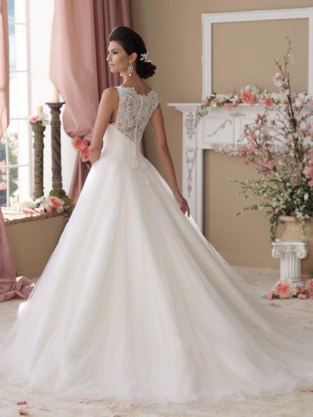 Back of 114273 Isobel Wedding Dress - David Tutera for Mon Cheri Spring 2014 Bridal Collection