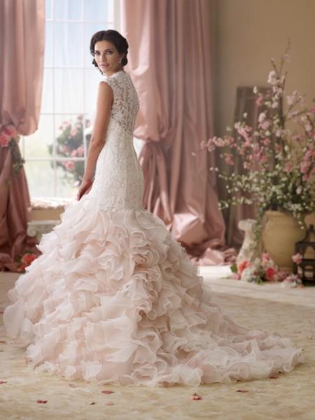 Back of 114276 Crawley Wedding Dress - David Tutera for Mon Cheri Spring 2014 Bridal Collection