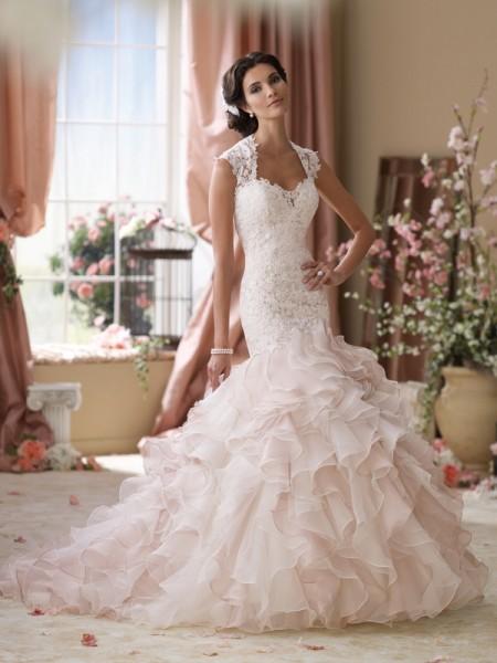 114276 Crawley Wedding Dress - David Tutera for Mon Cheri Spring 2014 Bridal Collection