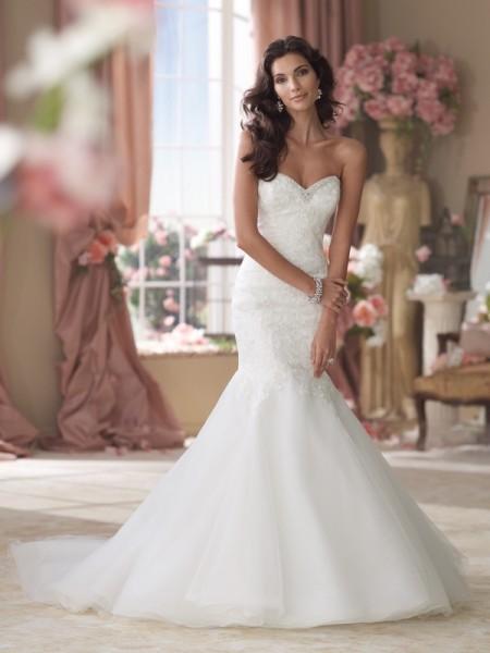 114278 Grantham Wedding Dress - David Tutera for Mon Cheri Spring 2014 Bridal Collection