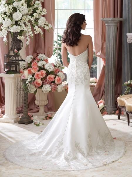 Back of 114279 Isidore Wedding Dress - David Tutera for Mon Cheri Spring 2014 Bridal Collection