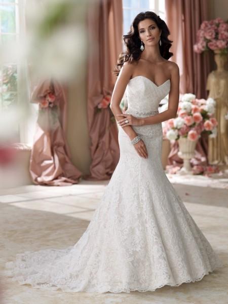 114280 Martha Wedding Dress - David Tutera for Mon Cheri Spring 2014 Bridal Collection