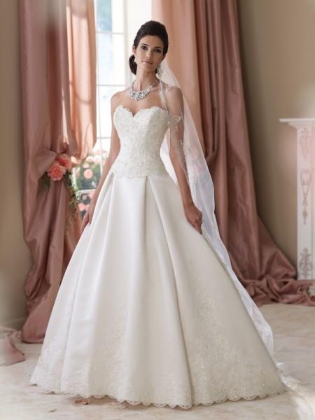 114281 Bates Wedding Dress - David Tutera for Mon Cheri Spring 2014 Bridal Collection
