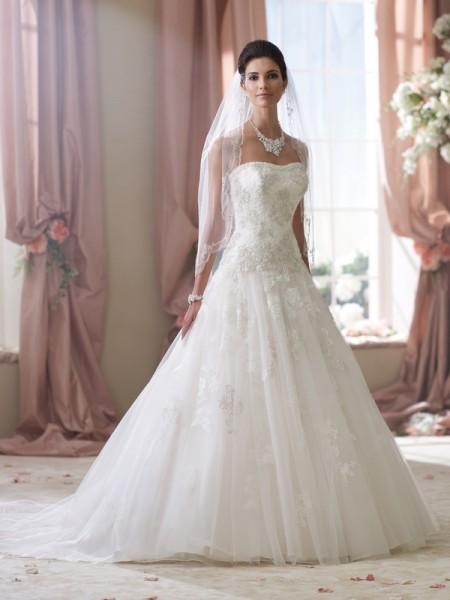 114282 Ivy Wedding Dress - David Tutera for Mon Cheri Spring 2014 Bridal Collection