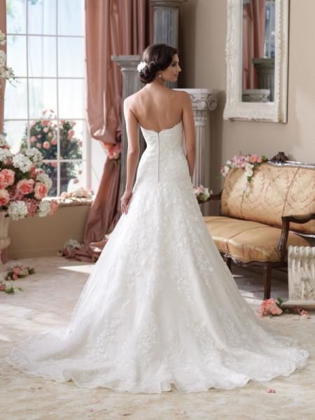 Back of 114283 Gretna Wedding Dress - David Tutera for Mon Cheri Spring 2014 Bridal Collection