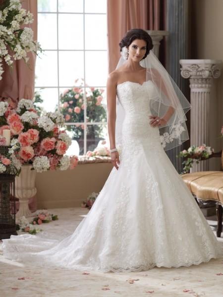 114283 Gretna Wedding Dress - David Tutera for Mon Cheri Spring 2014 Bridal Collection