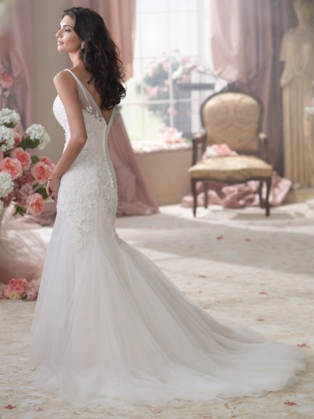 Back of 114284 Wilkins Wedding Dress - David Tutera for Mon Cheri Spring 2014 Bridal Collection