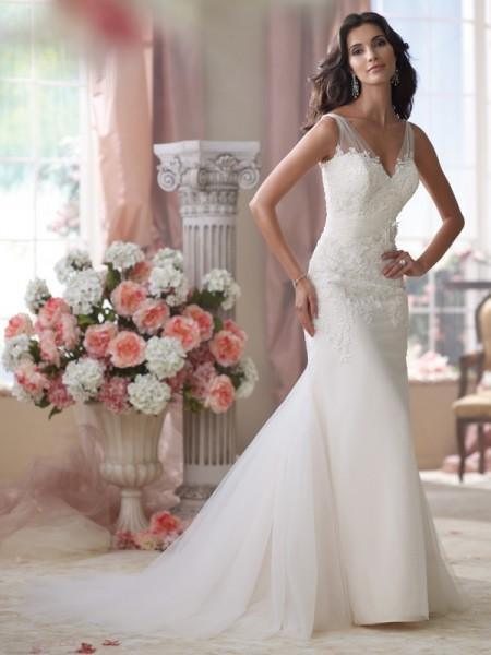 114284 Wilkins Wedding Dress - David Tutera for Mon Cheri Spring 2014 Bridal Collection