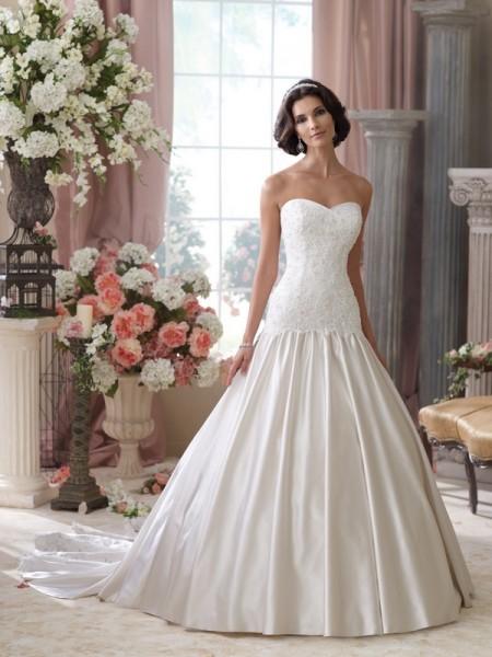 114285 Roberta Wedding Dress - David Tutera for Mon Cheri Spring 2014 Bridal Collection