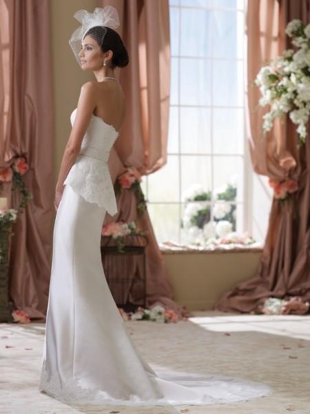 Back of 114287 Lady Wedding Dress - David Tutera for Mon Cheri Spring 2014 Bridal Collection