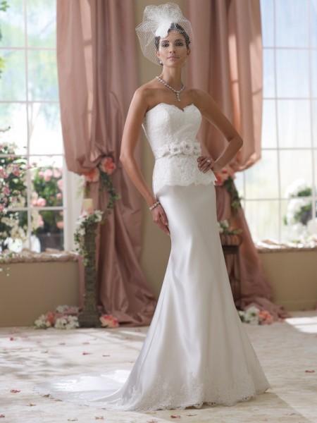 114287 Lady Wedding Dress - David Tutera for Mon Cheri Spring 2014 Bridal Collection