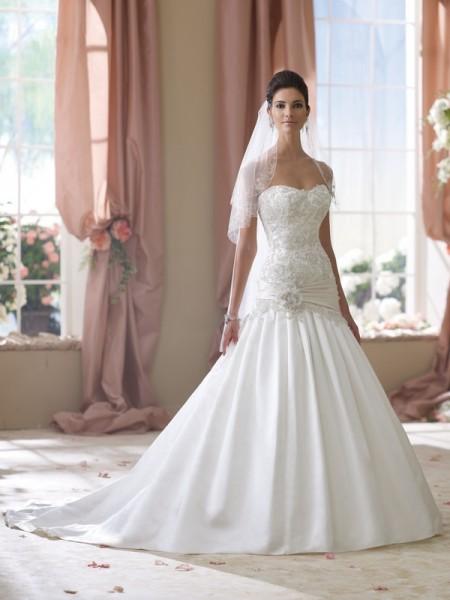 114288 Ethel Wedding Dress - David Tutera for Mon Cheri Spring 2014 Bridal Collection