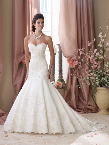 114290 May Wedding Dress - David Tutera for Mon Cheri Spring 2014 Bridal Collection