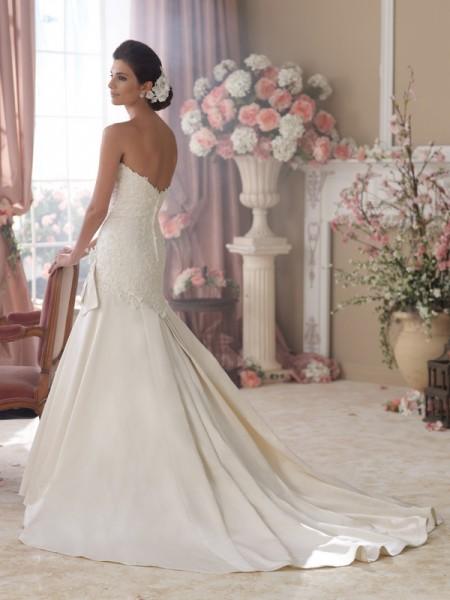 Back of 114292 Jane Wedding Dress - David Tutera for Mon Cheri Spring 2014 Bridal Collection