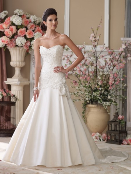114292 Jane Wedding Dress - David Tutera for Mon Cheri Spring 2014 Bridal Collection