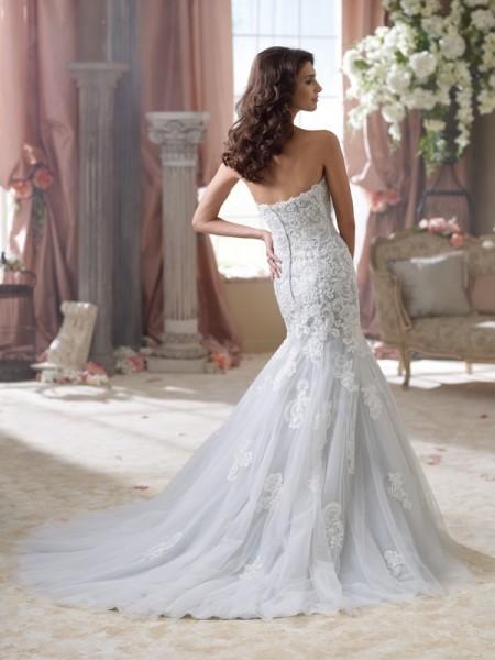 Back of 114293 Beryl Wedding Dress - David Tutera for Mon Cheri Spring 2014 Bridal Collection