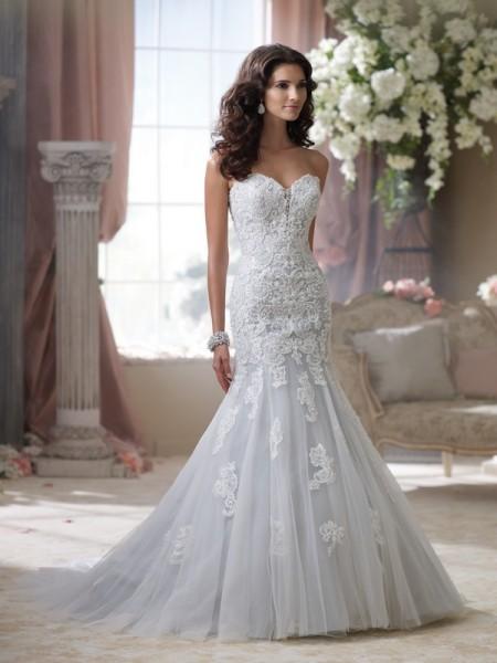 114293 Beryl Wedding Dress - David Tutera for Mon Cheri Spring 2014 Bridal Collection
