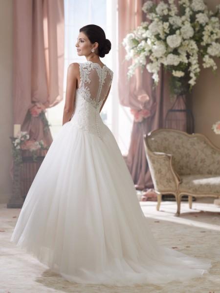 Back of 114294 Elsie Wedding Dress - David Tutera for Mon Cheri Spring 2014 Bridal Collection