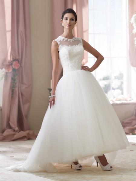 114294 Elsie Wedding Dress - David Tutera for Mon Cheri Spring 2014 Bridal Collection
