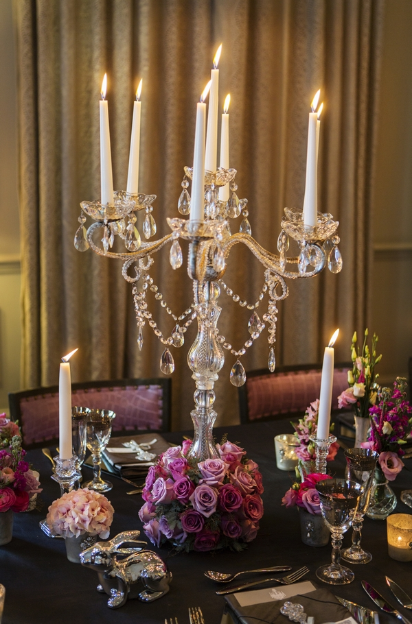 Candelabra on wedding table