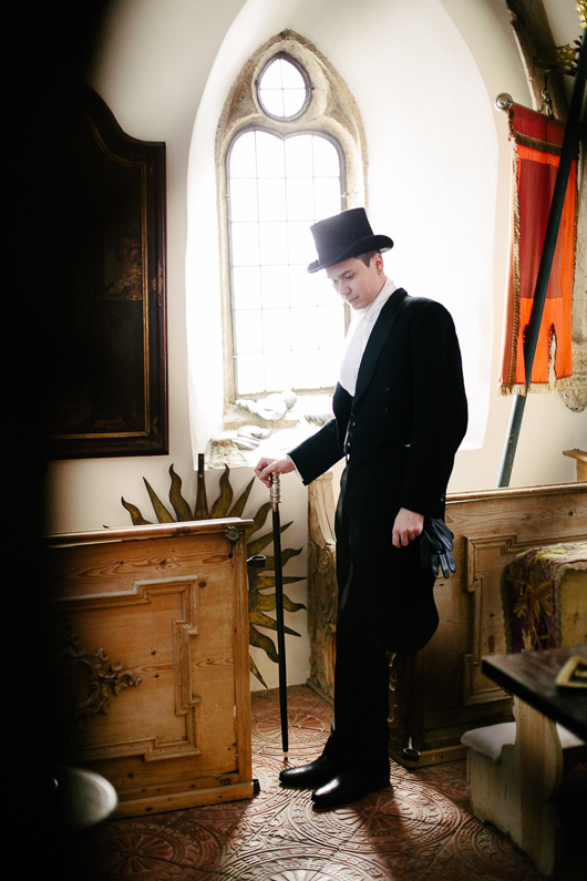 Groom with top hat