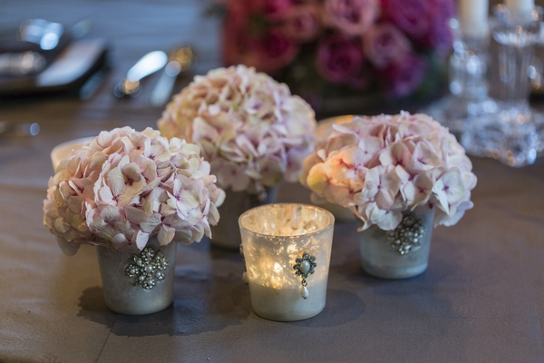 Flowers and tealight