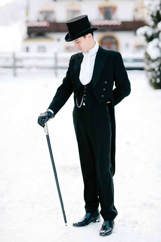 Groom with top hat and cane