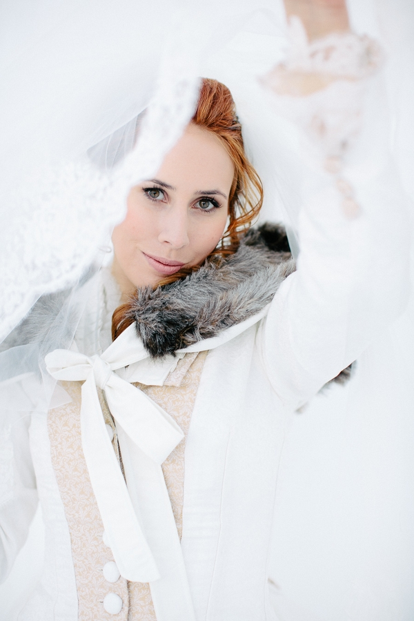 Bride with fur collar