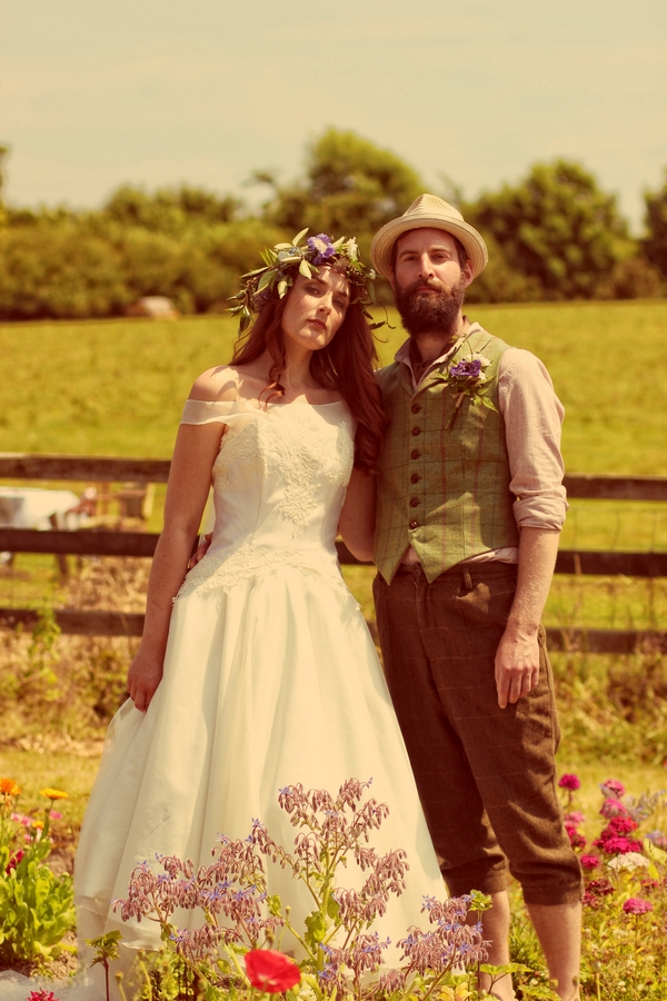 Vintage bride and groom