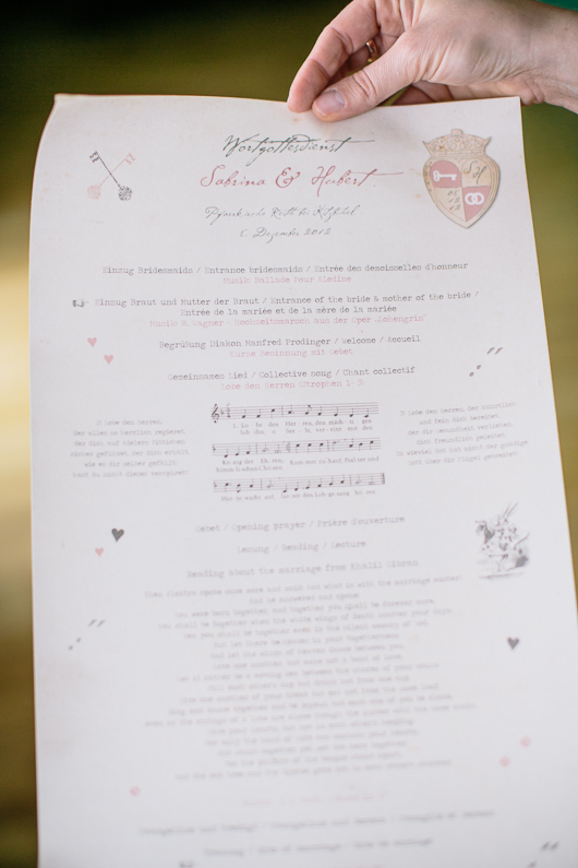Wedding order of service