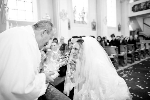 Bride and vicar