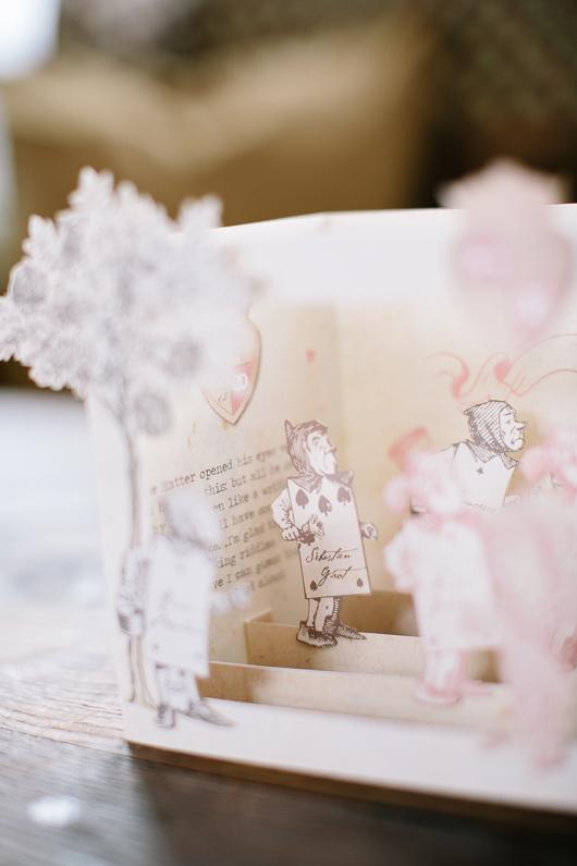 Alice in Wonderland cut out paper model