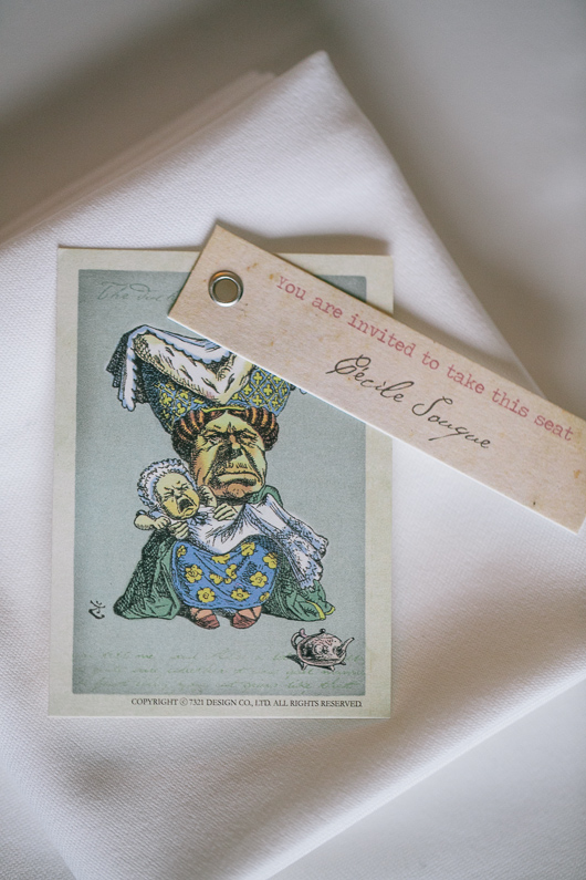 Alice in Wonderland wedding place card