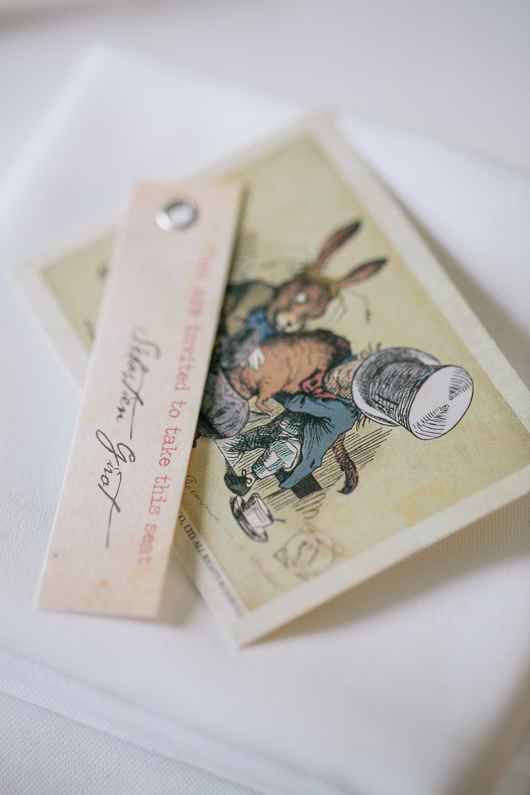 Alice in Wonderland wedding place card