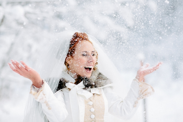 An Alice in Winter Wonderland Wedding