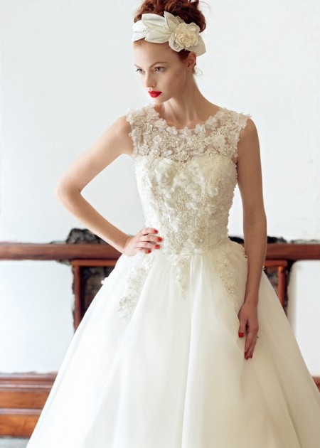 Rose Wedding Dress - Charlotte Balbier A Decade of Style 2014 Bridal Collection