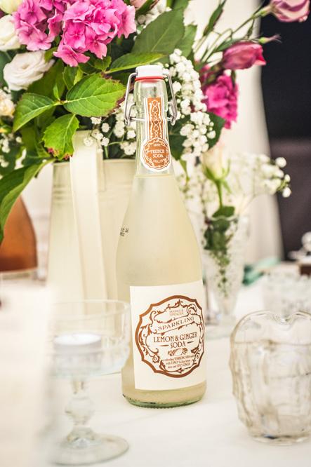 Bottle on wedding table