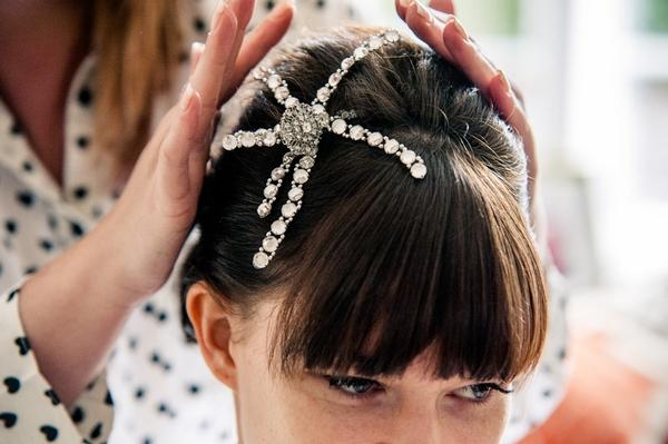 Star bridal hairpiece