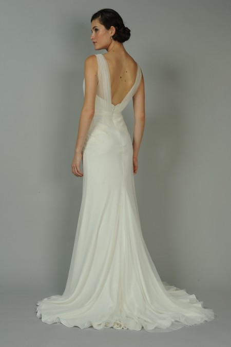 Back of Bijou Wedding Dress - Anne Barge Blue Willow Bride Fall 2014 Collection