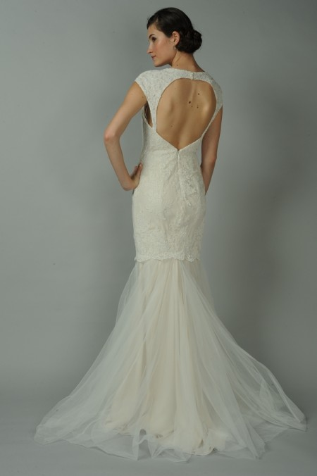 Back of Cameo Wedding Dress - Anne Barge Blue Willow Bride Fall 2014 Collection
