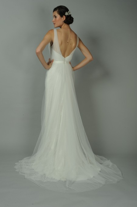 Back of Coralie Wedding Dress - Anne Barge Blue Willow Bride Fall 2014 Collection