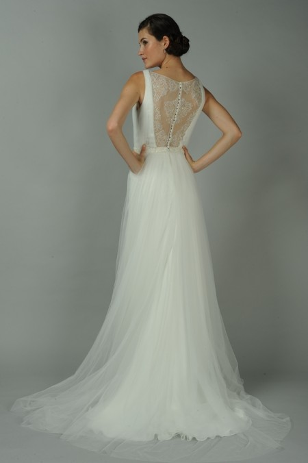 Back of Crystal Wedding Dress - Anne Barge Blue Willow Bride Fall 2014 Collection