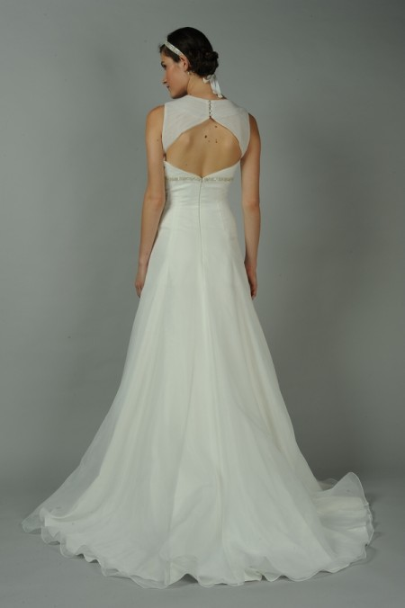 Back of Diamante Wedding Dress - Anne Barge Blue Willow Bride Fall 2014 Collection