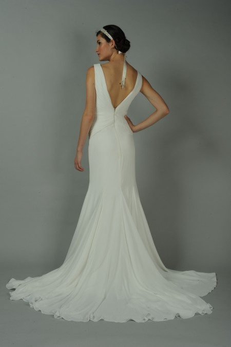 Back of Esmerelda Wedding Dress - Anne Barge Blue Willow Bride Fall 2014 Collection