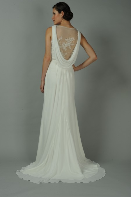 Back of Gemma Wedding Dress - Anne Barge Blue Willow Bride Fall 2014 Collection