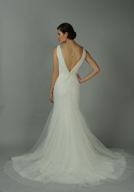 Back of Tourmaline Wedding Dress - Anne Barge Blue Willow Bride Fall 2014 Collection